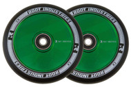 Root Industries 110mm Air Wheels - Pair - Black on Green