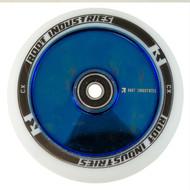 Root Industries 110mm Air Wheels - Pair - White on Blue Chrome