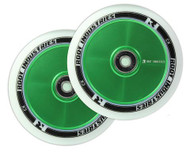 Root Industries 110mm Air Wheels - Pair - White on Green