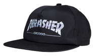 Thrasher X GX1000 Snapback Cap -  Black