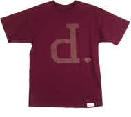 Diamond - Tonal Un-Polo Tee - Burgundy