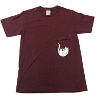 RIPNDIP - Falling For Nermal Pocket Tee - Burgundy Heather