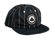 Thrasher Oath Pinstripe Snapback Cap - Black