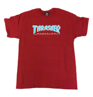 Thrasher - Skate Mag Outlined T-Shirt - Cardinal