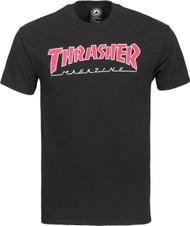 Thrasher - Skate Mag Outlined T-Shirt - Black