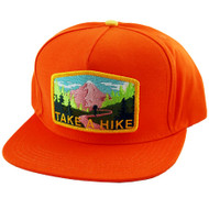 Skate Mental Snapback Hat - Take A Hike - Orange