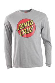 Santa Cruz Dot Long Sleeve Tee - Grey