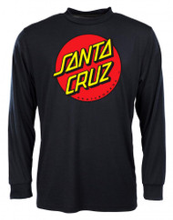 Santa Cruz Classic Dot Long Sleeve - Black