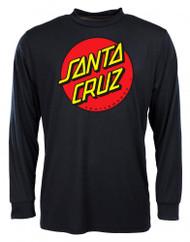 Santa Cruz Classic Dot Long Sleeve - Black