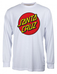Santa Cruz Classic Dot Long Sleeve - White
