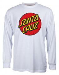 Santa Cruz Classic Dot Long Sleeve - White