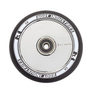 Root Industries 120mm Air Wheels - Pair -  Black on Mirror Chrome