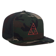 HUF Triple Triangle Trucker Hat - Woodland Camo