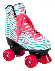 Rookie Roller Skates - Flamingo - White/Multi