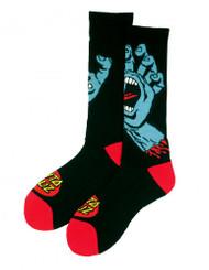 Santa Cruz Socks Screaming Hand - Black