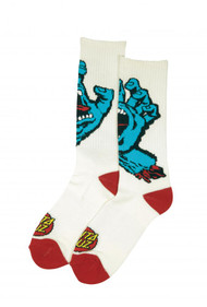 Santa Cruz Socks Screaming Hand - White
