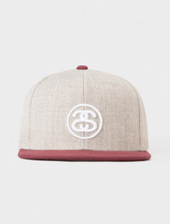Stussy Link FA17 Snapback Hat - Grey Heather
