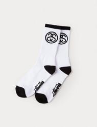 Stussy - SS-Link Premium Socks - Black/White