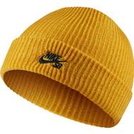 Nike SB Fisherman Beanie Hat - Mineral Gold / Black