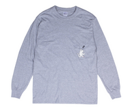 Ripndip Hang In There Long Sleeve Tee - Athletic Heather