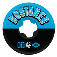 Ricta Duo Tones 98a Skateboard Wheels Blue Black 52mm