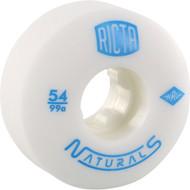 Ricta Wheels Naturals White / Blue Skateboard Wheels - 54mm 99a