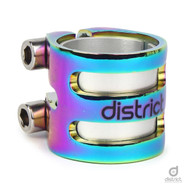District Scooters S-Series DLC15 Double Clamp - Neo Chrome