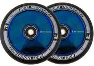 Root Industries 110mm Air Wheels - Pair -  Black on Blue Ray