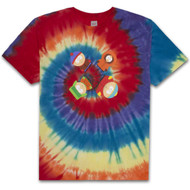 HUF X South Park Trippy - Tie-Dye Tee - Rainbow