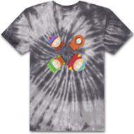 HUF X South Park Trippy - Tie-Dye Tee - Black