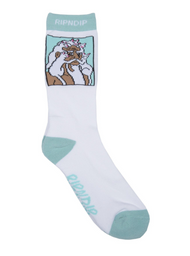 RIPNDIP - Nerm Beard Socks - White