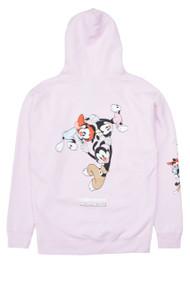 The Hundreds X Animaniacs - Wakko Yakko Dot Pullover Hoodie - Pink