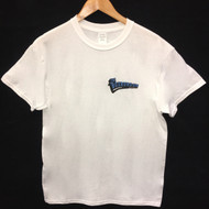 The Boardroom Logo Tee - White / Blue