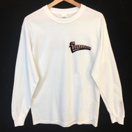 The Boardroom Longsleeve Tee - White / Pink