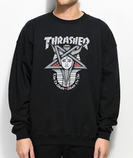 Thrasher Goddess Black Crew Neck Sweatshirt - Black