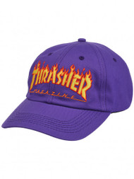 Thrasher Flame Old Timer Hat - Purple