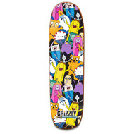 Grizzly X Adventure Time Like Your Brain & Stuff Skateboard Deck