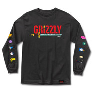 Grizzly X Adventure Time Grizzly Time L/S Tee - Black