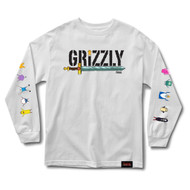 Grizzly X Adventure Time Grizzly Time L/S Tee - White