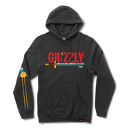 Grizzly X Adventure Time Grizzly Time Hoodie Black