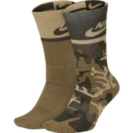 Nike SB 2 Pack Crew Socks - Multi Green Army