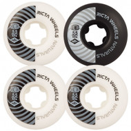 Ricta Naturals Skateboard Wheels 101a 55mm Black / White