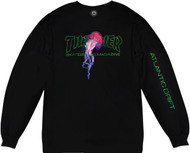 Thrasher Skateboard Magazine X Atlantic Drift L/S T-Shirt - Black