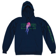Thrasher Skateboard Magazine X Atlantic Drift Hoodie - Navy