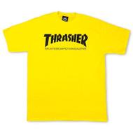 Thrasher T Shirt Skate Mag - Yellow