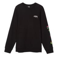 Stussy Roses Crew Sweatshirt - Black