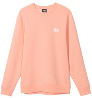 Stussy Basic Crew - Salmon Pink