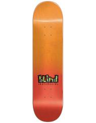 "Blind Spray Fade Red Skateboard Deck - 8.00"""