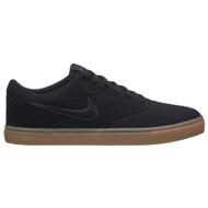 Nike SB - Men's Check Solarsoft Canvas Skateboarding Shoe - Black Gum