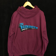 The Boardroom Classic Logo Hoodie - Plum / Blue